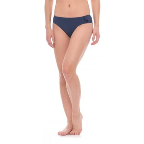 Niptuck Swim Ruched Side Bikini Bottoms (For Women)