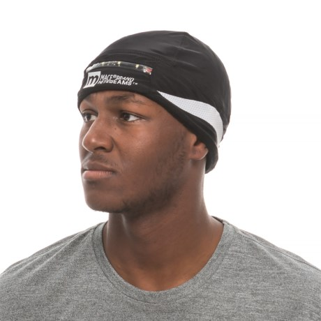 Nitebeams MACE Brand LED Running Beanie (For Men and Women) in Black/Silver