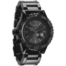Nixon 42-20 Tide Watch - Stainless Steel Band (For Men and Women) in All Black/Black Crystal - Closeouts