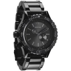 Nixon 42-20 Tide Watch - Stainless Steel Band (For Men and Women) in All Black/Black Crystal