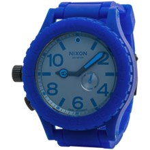 Nixon 51-30 Chronograph Watch - Rubber Strap (For Men and Women) in Royal - Closeouts