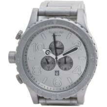 Nixon 51-30 Chronograph Watch - Stainless Steel Band (For Men) in All Raw Steel - Closeouts