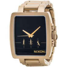 Nixon Axis Watch - Stainless Steel Band (For Men) in Gold/Black - Closeouts