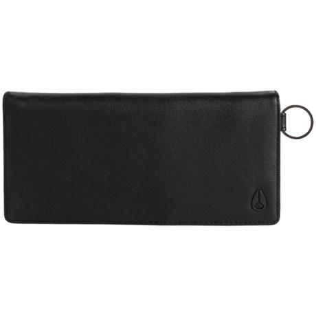 Nixon Canyon Checkbook Bi-Fold Wallet (For Men) in Black