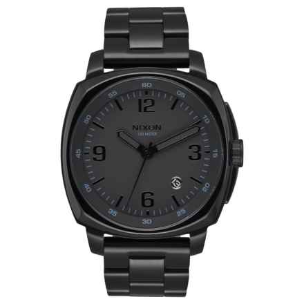 Nixon Charger Watch - 42mm, Stainless Steel (For Men) in Black/Black