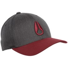 Nixon Deep Down Cap - Wool Blend (For Men) in Charcoal/Red - Closeouts