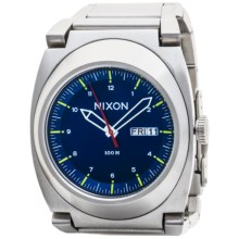 Nixon Don II Watch - Brushed Stainless Steel (For Men) in Blue Sunray - Closeouts