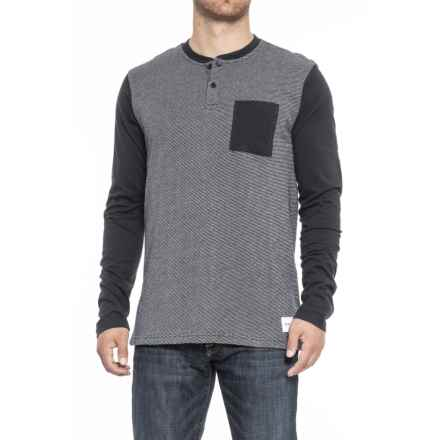 Nixon Iris Henley Shirt - Long Sleeve (For Men) in Navy - Closeouts