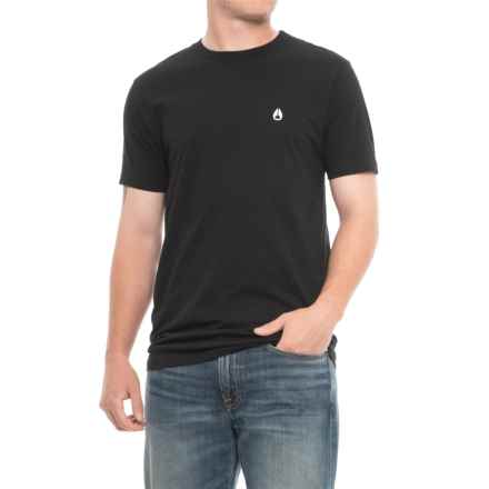 Nixon NW Berkeley T-Shirt - Short Sleeve (For Men) in Black - Closeouts
