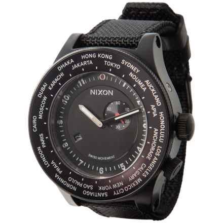 Nixon Passport Multi Time Watch - Nylon Strap (For Men and Women) in Black - Closeouts
