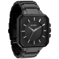 Nixon Platform Watch - Stainless Steel Band (For Men and Women) in Black/Black