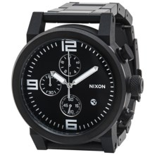 Nixon Ride Watch - Stainless Steel Band (For Men) in Black/Black - Closeouts