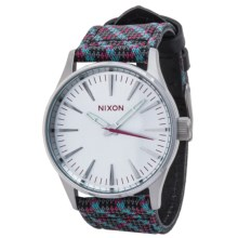 Nixon Sentry 38 Analog Watch (For Men) in Silver/Silver/Multi - Closeouts