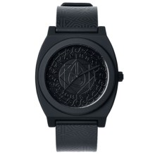 Nixon Time Teller Watch - Rubber Strap (For Men and Women) in Black/Black - Closeouts