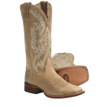 Nocona Boots Square Toe Cowboy Boots - Leather, Square Toe (For Women) in Tan - Closeouts