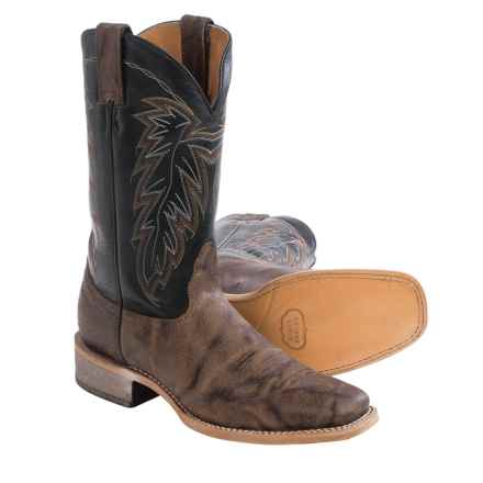 Nocona Cowhide Cowboy Boots - Leather, Square Toe (For Men) in Brown - Closeouts