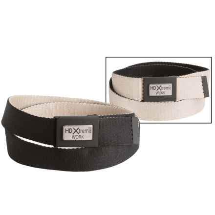 Nocona HD Xtreme Flame-Resistant Reversible Belt - Fabric (For Men) in Black/Brown - Closeouts