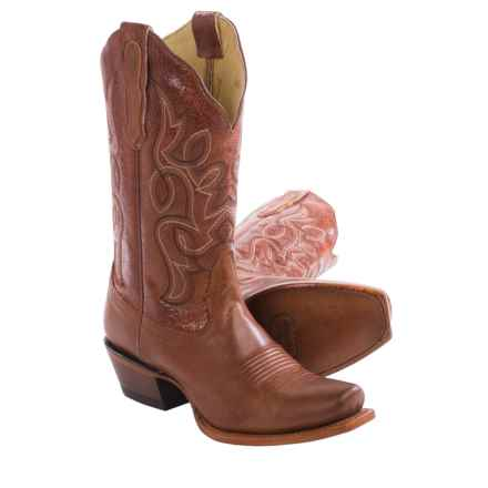 "Nocona Honey Vaquero Cowboy Boots - 11"", Snip Toe (For Women) in Honey - Closeouts"
