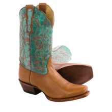 Nocona Karma Bliss Cowboy Boots - Square Toe (For Women) in Tan - Closeouts