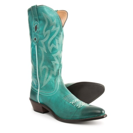 "Nocona Lantana Cowboy Boots - 12"", Round Toe (For Women) in Turquoise"