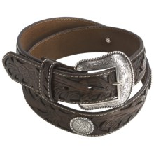 Nocona Leather Conchos Belt (For Men) in Brown - Closeouts