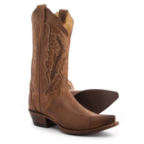 """Nocona Marigold Cowboy Boots - 11"""", Pointed Toe (For Women) in Tan"""