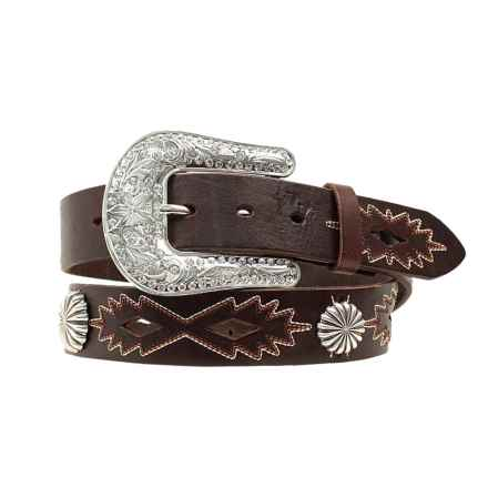 Nocona Southwest Conchos Belt - Leather (For Women) in Black - Closeouts