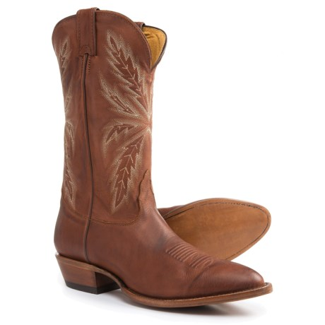 "Nocona Tejas Legacy Cowboy Boots - 12"", Round Toe (For Men) in Brown"