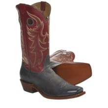 Nocona Tuscan Goat Cowboy Boots - Square Toe (For Men) in Walnut - Closeouts