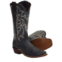 Nocona Vintage Kangaroo Cowboy Boots -Square Toe (For Men) in Black