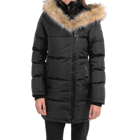 Noize Anastasia Coat Faux Fur Trim Hood, Insulated (For Women)