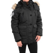 Noize Borge 15 Insulated Parka - Faux-Fur Hood (For Women) in Black - Closeouts