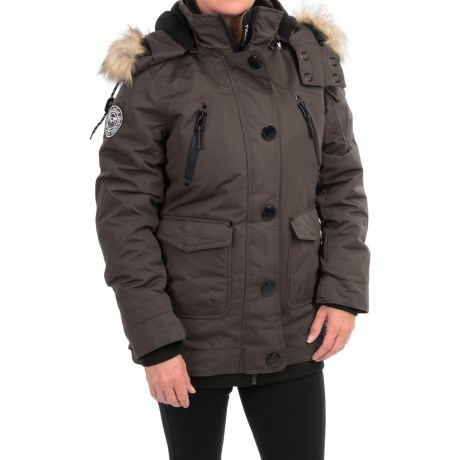 Noize Borge 15 Insulated Parka Faux Fur Hood (For Women)