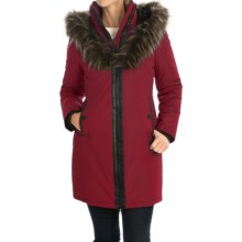 Noize Donna Parka - Zip Front, Insulated, Faux-Fur Hood Trim (For Women) in Burgundy - Overstock
