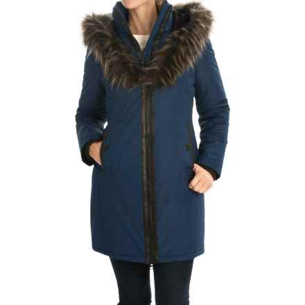 Noize Donna Parka - Zip Front, Insulated, Faux-Fur Hood Trim (For Women) in Estate Blue - Overstock