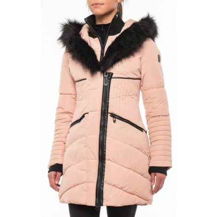 Noize Gigi Long Jacket - Insulated (For Women) in Blush