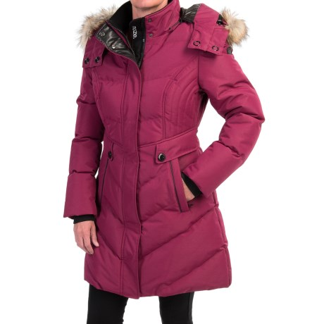 Noize Kennedy S1 Quilted Coat Removable Hood For Women