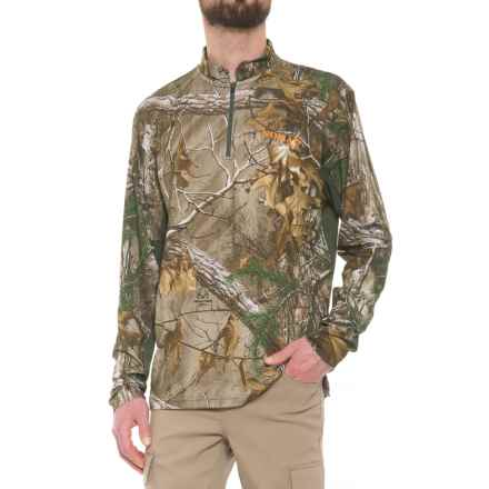 NOMAD 1/4 Zip Shirt - Long Sleeve (For Men and Big Men) in Realtree Xtra - Closeouts