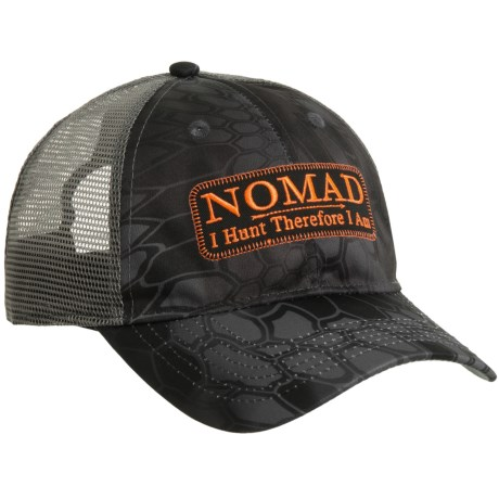 NOMAD Camo Trucker Patch Baseball Cap (For Men) in Typhon