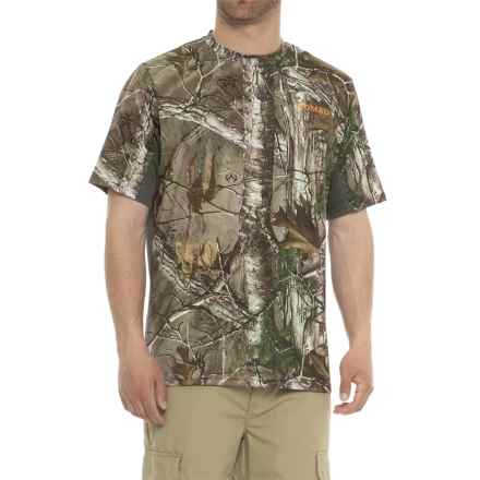 NOMAD Cooling T-Shirt - Short Sleeve (For Men and Big Men) in Realtree Xtra - Closeouts