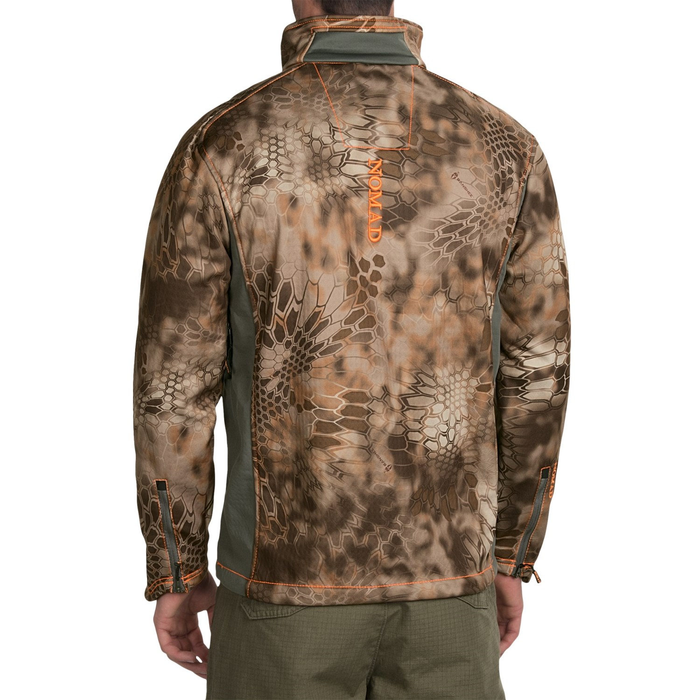 nomad mergence soft shell fleece camo jacket for men save 69. Black Bedroom Furniture Sets. Home Design Ideas