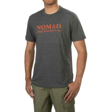 Nomad Tri-Blend Logo T-Shirt - Crew Neck, Short Sleeve (For Men and Big Men) in Dark Grey Heather - Closeouts