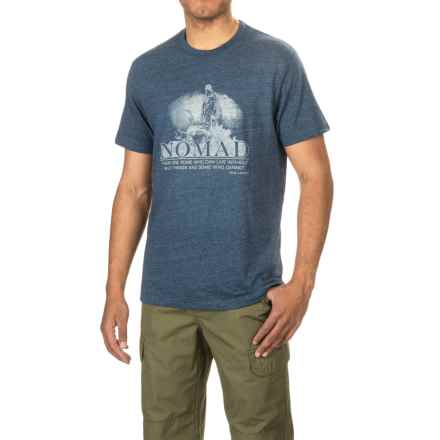 Nomad Wild Things T-Shirt - Crew Neck, Short Sleeve (For Men and Big Men) in Heather Navy - Closeouts