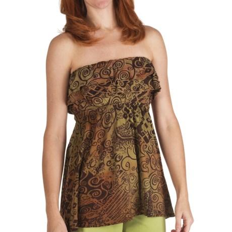 Nomadic Traders Alicia Batik Knit Shirt - Strapless (For Women) in Nutmeg
