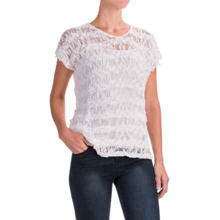 Nomadic Traders Apropos Checkers Ventana Shirt - Short Sleeve (For Women) in White - Closeouts