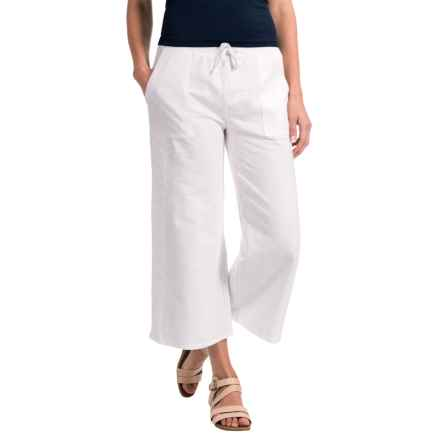 Nomadic Traders Apropos Fleurs De Lace Cotton Pants (For Women) in White/White - Closeouts