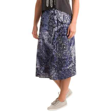 Nomadic Traders Apropos Grand Budapest Printed Swing Skirt (For Women) in Indigo - Closeouts
