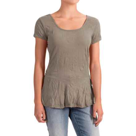 Nomadic Traders Apropos Having a Crush Peplum Shirt - Short Sleeve (For Women) in Taupe - Closeouts