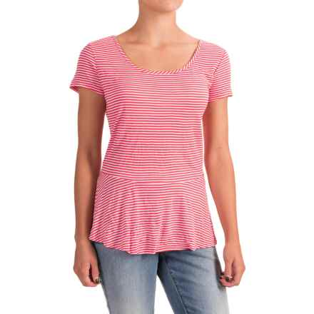 Nomadic Traders Apropos Having a Crush Peplum Shirt - Short Sleeve (For Women) in Watermelon Stripe - Closeouts