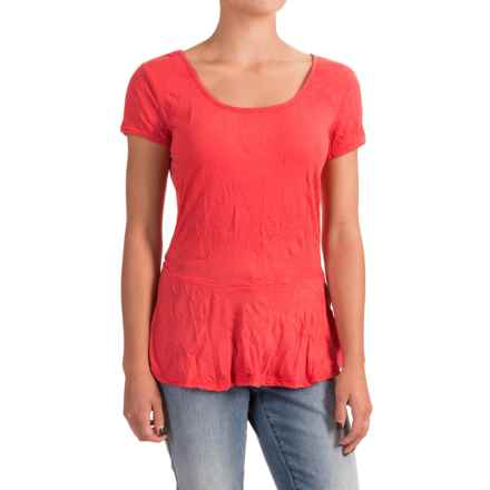 Nomadic Traders Apropos Having a Crush Peplum Shirt - Short Sleeve (For Women) in Watermelon - Closeouts